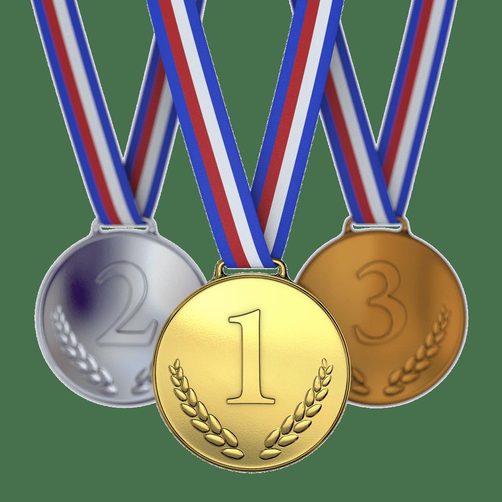 מדליות מקומות ראשונים
