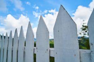 גדר בצבע לבן